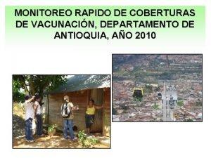 MONITOREO RAPIDO DE COBERTURAS DE VACUNACIN DEPARTAMENTO DE