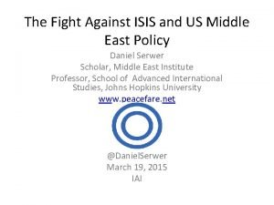 The Fight Against ISIS and US Middle East