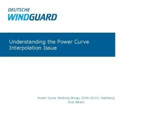 Understanding the Power Curve Interpolation Issue Power Curve