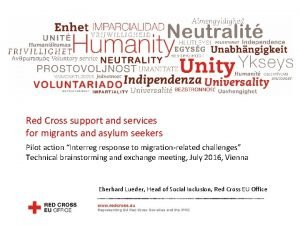 Red Cross EU Office Red Cross support and
