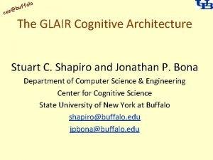 alo uff b cse The GLAIR Cognitive Architecture