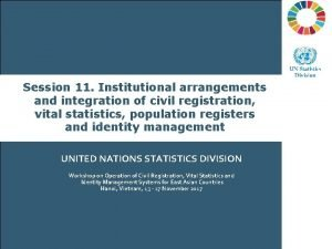 Brisbane Accord Group Session 11 Institutional arrangements and