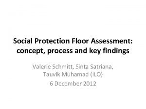 Social Protection Floor Assessment concept process and key