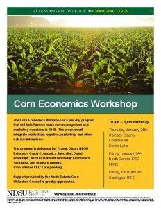 Corn Economics Workshop The Corn Economics Workshop is