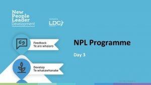 NPL Programme Day 3 JULY 2019 Release 01