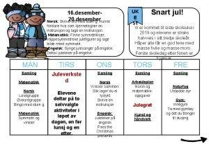 16 desember Norsk Skrive 20 desember ord med