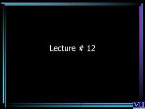 Lecture 12 Printer Interface INT PIC Printer Interface