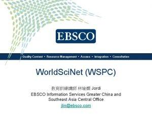Quality Content Resource Management Access Integration Consultation World