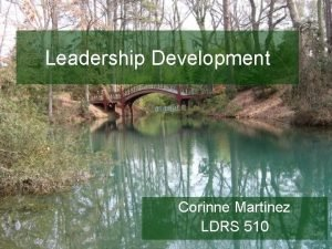 Leadership Development Corinne Martinez LDRS 510 Authentic leadership
