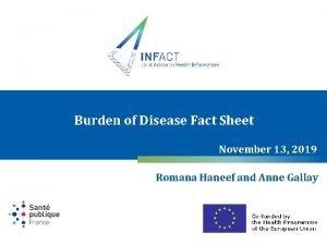 Burden of Disease Fact Sheet November 13 2019