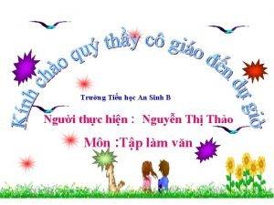 Trng Tiu hc An Sinh B Ngi thc