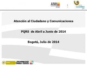 Atencin al Ciudadano y Comunicaciones PQRS de Abril