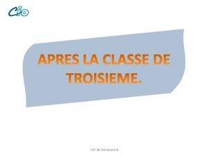 CIO de Carcassonne CIO de Carcassonne Etudes suprieures