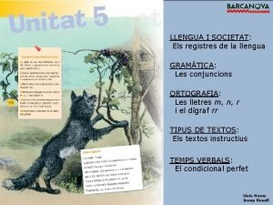 LLENGUA I SOCIETAT Els registres de la llengua