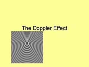 The Doppler Effect Frequency and Pitch Pitch is