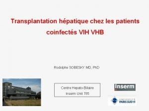 Transplantation hpatique chez les patients coinfects VIH VHB