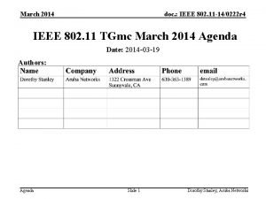 March 2014 doc IEEE 802 11 140222 r