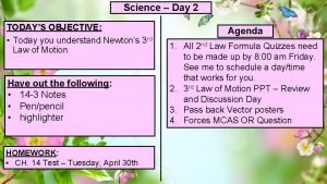 Science Day 2 TODAYS OBJECTIVE Today you understand