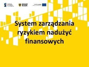 System zarzdzania ryzykiem naduy finansowych Podstawa prawna Rozporzdzenie