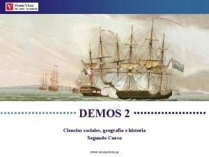 DEMOS 2 Ciencias sociales geografa e historia Segundo