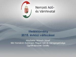 Illetktrvny 2015 vkzi vltozsai Ksztette Wnsch Jzsef NAV