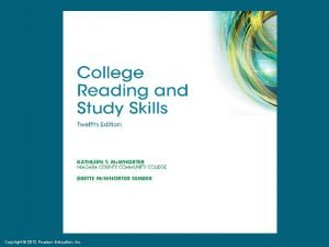 Copyright 2012 Pearson Education Inc Copyright 2012 Pearson