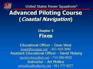 United States Power Squadrons Advanced Piloting Course Coastal