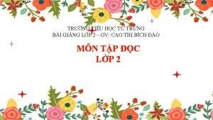 TRNG TIU HC T TRNG BI GING LP