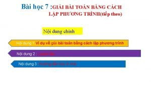 Bi hc 7 GII BI TON BNG CCH
