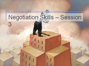 Negotiation Skills Session 3 1 Positional Negotiation The