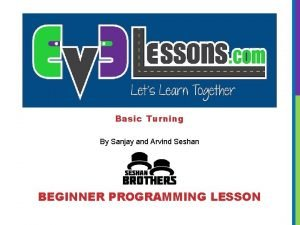 Basic Turning By Sanjay and Arvind Seshan BEGINNER