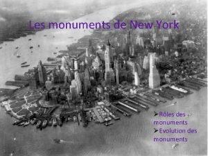 Les monuments de New York Rles des monuments