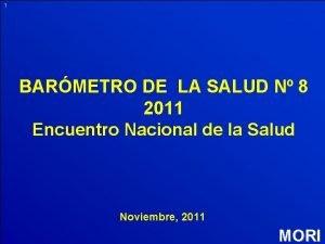 1 BARMETRO DE LA SALUD N 8 2011
