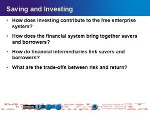 Saving and Investing How does investing contribute to