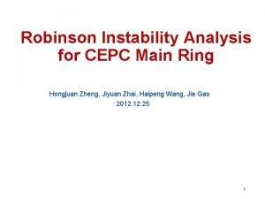 Robinson Instability Analysis for CEPC Main Ring Hongjuan