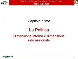 Pietro Grilli di Cortona Orazio Lanza Barbara Pisciotta