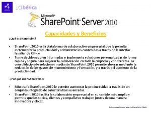 Qu es Share Point Capacidades y Beneficios Share