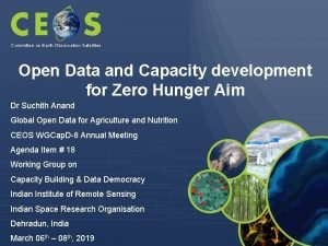 Committee on Earth Observation Satellites Open Data and