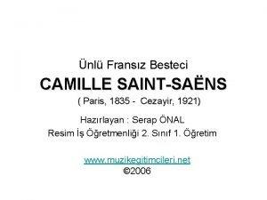 nl Fransz Besteci CAMILLE SAINTSANS Paris 1835 Cezayir