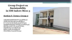 Group Project on Sustainability in IIM Indore Mess