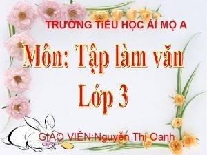 TRNG TiU HC I M A GIO VIN