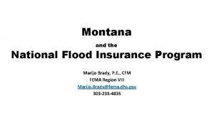 Montana and the National Flood Insurance Program Marijo