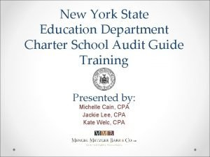 New York State Education Department Charter School Audit