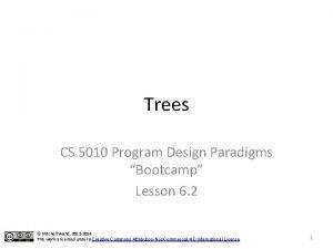 Trees CS 5010 Program Design Paradigms Bootcamp Lesson