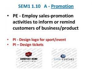SEM 1 1 10 A Promotion PE Employ
