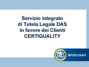 Servizio integrato di Tutela Legale DAS in favore