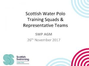 Scottish Water Polo Training Squads Representative Teams SWP
