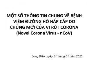 MT S THNG TIN CHUNG V BNH VIM