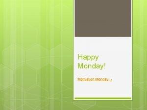 Happy Monday Motivation Monday A People of Prayer