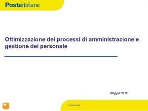 Ottimizzazione dei processi di amministrazione e gestione del